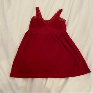 ADD ON Red lace tank